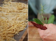 Spaghetti alla chitarra and other ingredients...